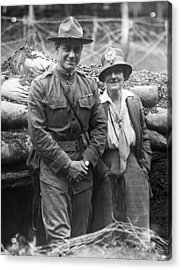 Col. Hayward And Sculptor Acrylic Print by Underwood Archives