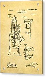Colburn Glass Blowing Machine Patent Art 1902 Acrylic Print