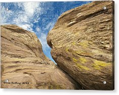 Acrylic Print featuring the painting Colby's Cliff by Bruce Nutting