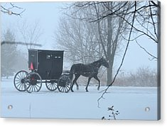 Cold Amish Morning Acrylic Print