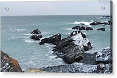 Cold Atlantic Rocks Acrylic Print