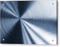 Cold Blue Metallic Texture Acrylic Print