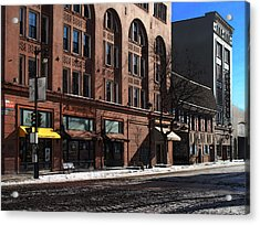 Cold Clear Morning On Old World 3rd Street In Milwaukee Wisconsin Acrylic Print by David Blank