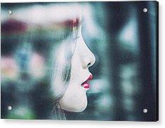 Cold Colorful Girl Acrylic Print