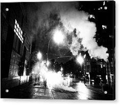 Cold Dark Corner Acrylic Print by Jhoy E Meade