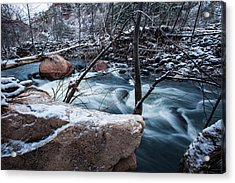 Cold Drift Acrylic Print by Bill Cantey