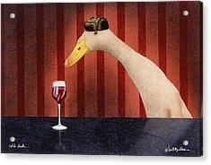 Cold Duck... Acrylic Print by Will Bullas