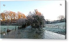 Cold  Acrylic Print by Karen Grist