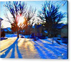 Cold Morning Sun Acrylic Print by Jeff Kolker