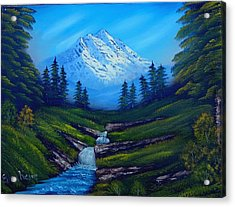 Cold Mountain Acrylic Print by Fineartist Ellen