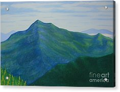 Acrylic Print featuring the painting Cold Mountain by Stacy C Bottoms