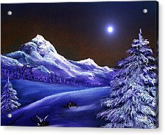 Cold Night Acrylic Print by Anastasiya Malakhova