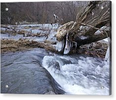 Cold River  Acrylic Print by Kiara Reynolds
