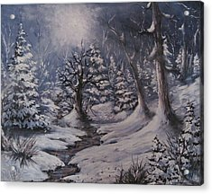 Acrylic Print featuring the painting Cold Snap by Megan Walsh