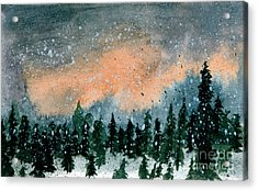 Cold Snow At Twilight Acrylic Print