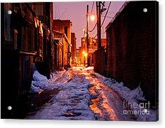 Cold Urban Alleyway Acrylic Print by Denis Tangney Jr