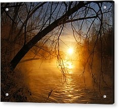 Acrylic Print featuring the photograph Cold Water Sunrise by Jeremy Farnsworth