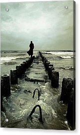 Cold Waves Acrylic Print by Cambion Art