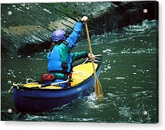 Cold Weather Canoeing Acrylic Print
