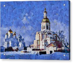 Cold Winter Church Acrylic Print