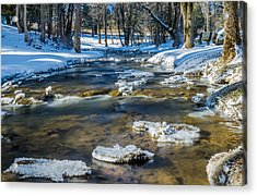 Cold Winter Creek Acrylic Print