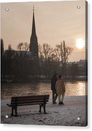 Cold Winter Light Acrylic Print by Joan Carroll