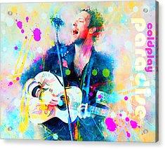 Coldplay Paradise Acrylic Print by Rosalina Atanasova