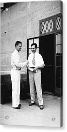 Cole And Claude Acrylic Print by American Philosophical Society