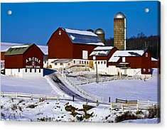 Cole Dairy Farm Acrylic Print by David Simons