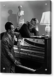 Cole Porter And Moss Hart At A Piano Acrylic Print by Lusha Nelson