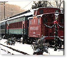 Colebrookdale Railroad In Winter Acrylic Print