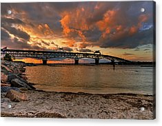 Coleman Bridge At Sunset Acrylic Print