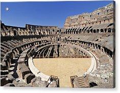 Coliseum . Rome Acrylic Print by Bernard Jaubert