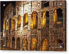 Coliseum At Night  Acrylic Print
