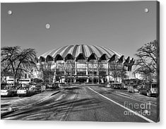 Coliseum Black And White With Moon Acrylic Print by Dan Friend