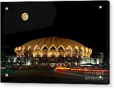 Acrylic Print featuring the photograph Coliseum Night With Full Moon by Dan Friend