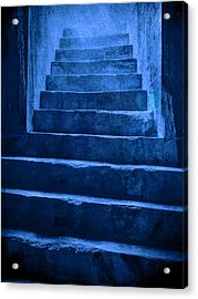 Coliseum Stairs Blue Acrylic Print by Bob Coates