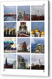 Collage Moscow Kremlin 1 - Featured 3 Acrylic Print by Alexander Senin