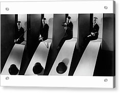 Collage Of Charlie Chaplin Acrylic Print