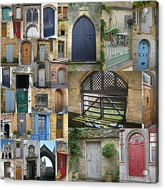 Collage Of Doors Acrylic Print by Cathy Jacobs
