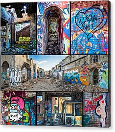 Acrylic Print featuring the photograph Collage Of Graffiti by Steven Santamour