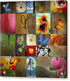 Collage Of Happiness 2 Acrylic Print by Mark Ashkenazi