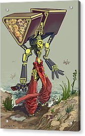 Collecting Those Heads Acrylic Print by Augustinas Raginskis