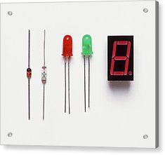 Collection Of Diodes Acrylic Print by Dorling Kindersley/uig