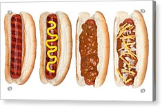 Collection Of Hotdogs Acrylic Print