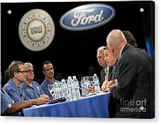 Acrylic Print featuring the photograph Collective Bargaining by Jim West