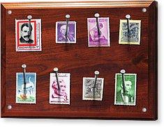 Collector - Stamp Collector - My Stamp Collection Acrylic Print by Mike Savad