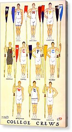 College Rowing Crews 1908 Acrylic Print by Padre Art