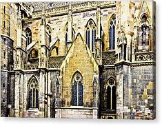 Collegiate St-martin Acrylic Print by Richard J Thompson