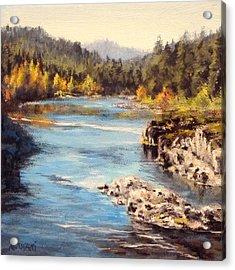 Colliding Rivers Fall Acrylic Print by Karen Ilari